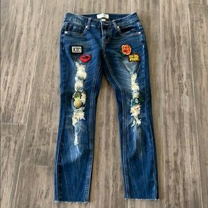 harmony and HAVOC Jeans - Harmony and havoc distressed embellished jeans